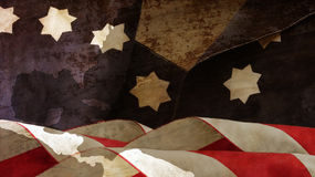 Usa Flag On Wood. Stars Stripes Chart Royalty Free Stock Photos