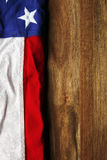 USA flag on wooden Royalty Free Stock Images