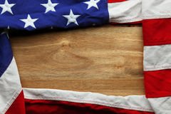 USA flag on wooden background Royalty Free Stock Photography