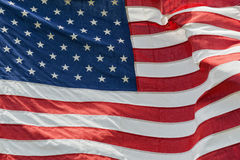 Usa flaga amerykańskiej lampasów i gwiazd szczegół Zdjęcia Royalty Free