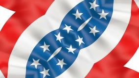USA flaga amerykańskiej wakacje wideo ilustracji