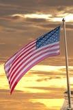 Usa flaga amerykańskiej lampasy i gwiazdy Zdjęcia Stock