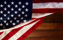 USA flaga deska fotografia stock