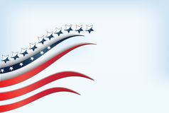 USA flaga na niebieskim niebie Zdjęcie Royalty Free