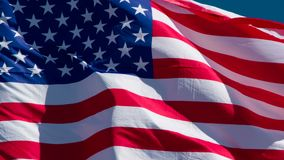 USA flaga na słonecznym dniu zdjęcie wideo