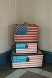 Usa flaga na walizce Zdjęcie Royalty Free