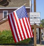 - 21, 2017 Usa flaga przy San Diego Starym miasteczkiem SAN DIEGO, KALIFORNIA, KWIECIEŃ - Zdjęcie Royalty Free