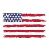 USA flaga w grunge stylu zdjęcie royalty free