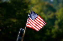 USA flaga w lato czasie Zdjęcia Royalty Free