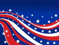 USA flaga w stylowym wektorze Obrazy Stock