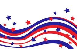USA flaga w stylowym wektorze Zdjęcie Royalty Free