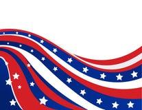 USA flaga w stylowym wektorze Fotografia Stock