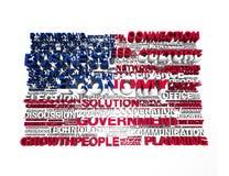 USA-flagga Royaltyfria Foton