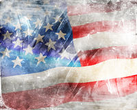 USA-flagga Arkivfoto