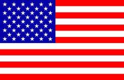 USA flagga för använt på självständighetsdagen Juli 4th Arkivfoto
