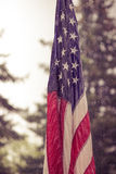 USA flagga i regn Royaltyfri Bild