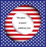 USA-flagga med kopieringsutrymme Royaltyfri Illustrationer