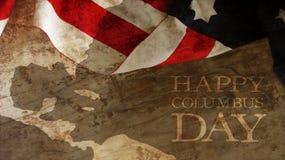 USA flagga och trä Royaltyfria Bilder