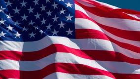 USA flagga på en Sunny Day lager videofilmer
