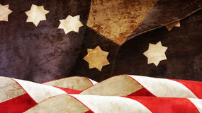 USA-flagga på trä stjärnor Royaltyfri Foto