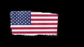 USA-flagga som är målad med en penseldrag vektor illustrationer