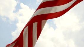 USA-flaggaAmerikas förenta stater stock video