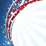 USA-flaggabakgrund Fotografering för Bildbyråer