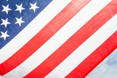 USA flaggabakgrund, självständighetsdagen, Juli fjärde symbol Arkivbilder
