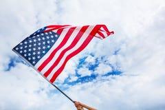 USA flaggabakgrund, självständighetsdagen, Juli fjärde symbol Royaltyfri Fotografi