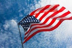 USA flaggabakgrund, 4th av det Juli självständighetsdagensymbolet Royaltyfri Bild