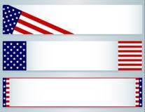 USA flaggabaner vektor illustrationer