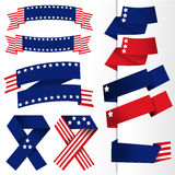 USA flaggabaner Arkivbilder