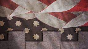USA-flaggahimmel och Merlons Fotografering för Bildbyråer