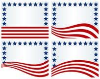 USA flaggan inspirerade bakgrunder vektor illustrationer