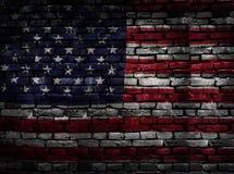 USA-flaggategelstenar royaltyfria foton