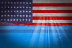 USA-Flagge stockfoto