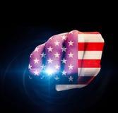 USA-Flaggen-Faust Lizenzfreie Stockfotos