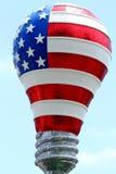 USA-Flaggen-Glühlampe Stockbild
