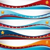 USA-Flaggen-Wellen-Satz Stockfotografie