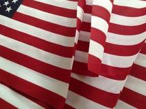 USA flaggor på försäljning Fotografering för Bildbyråer