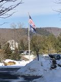 USA flagpole zdjęcia royalty free