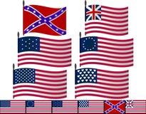 USA flags royalty free illustration