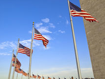 USA Flags Royalty Free Stock Photography