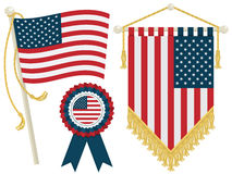 Usa flags Royalty Free Stock Images
