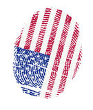 USA Flags in the form of fingerprints Stock Images