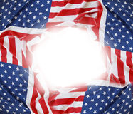 USA flags frame Royalty Free Stock Photography