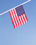 USA flags hanging proudly for July 4 Independence Day Stock Images