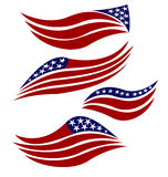 USA flags logo. USA stylized flags collection vector image design Stock Image