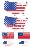 USA flags set Stock Images