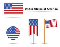 Usa flags vector illustration